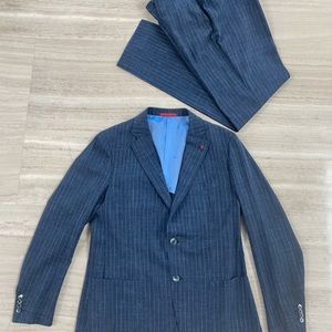Isaia Navy Pin Stripe Two-Piece Suit